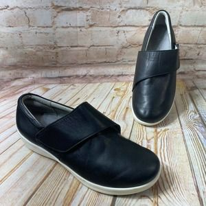 Alegria QIN Slip Resistant Leather Work Shoes TRAQ